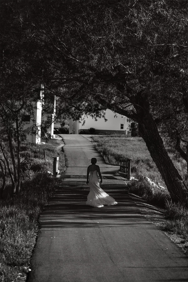 Bridal Photography Walking Down the Road