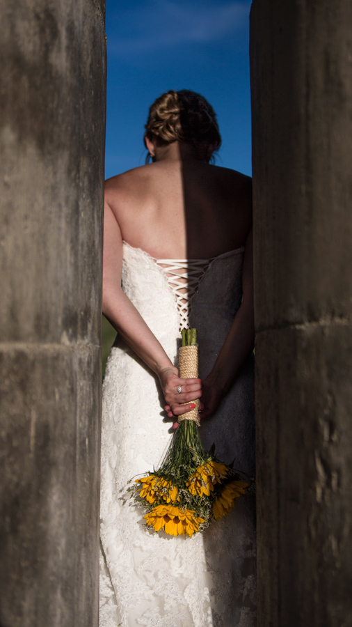 Finding light in a bridal shoot.